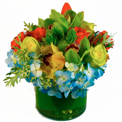 Orange Burst Flower Arrangement