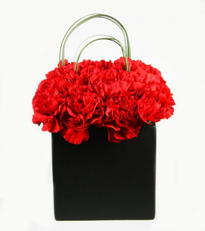 Red Box of Modern Love - Flower Arrangement
