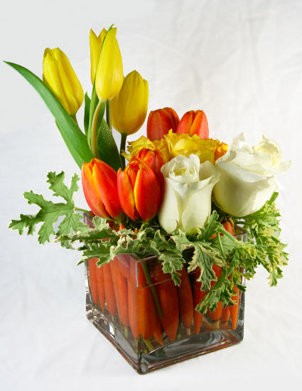 Rabbit's Garden Flower Arrangement