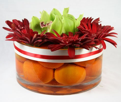 Tangerine Flower Arrangement