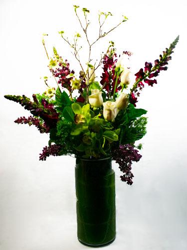 White Garnet Flower Arrangement