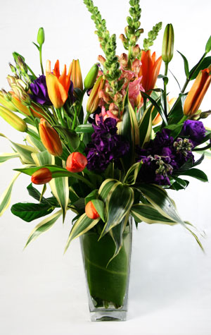 Topaz & Plum Flower Arrangement