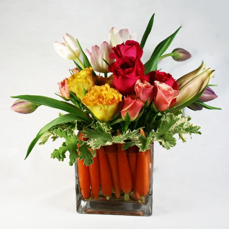 Easter Basket Flower Arrangement