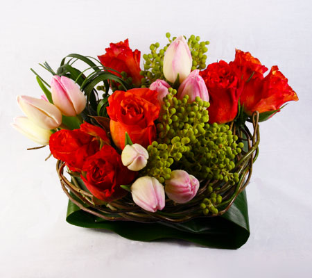 Spring Halo Flower Arrangement