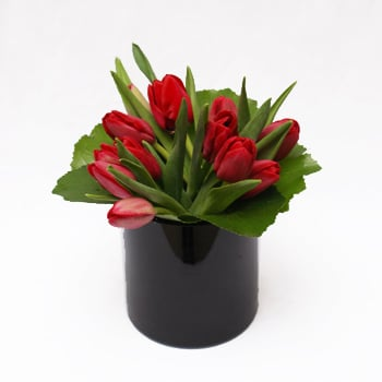 Black Tulip Flower Arrangement
