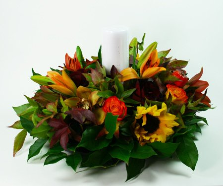 Large Autumn Centerpiece 2 Flower Arrangement