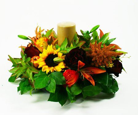 Medio Autumn Centerpiece 1 Flower Arrangement