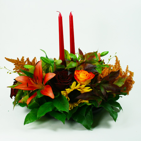 Medio Autumn Centerpiece 2 Flower Arrangement