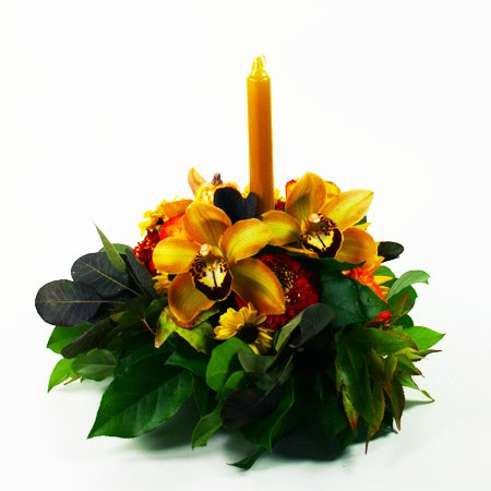 Boutique Autumn Centerpiece Flower Arrangement