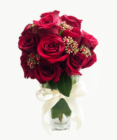 Antique Jeweled Rose Flower Arrangement