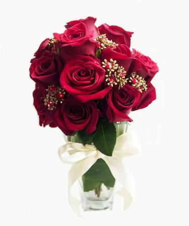 Antique Jeweled Rose Flower Arrangement