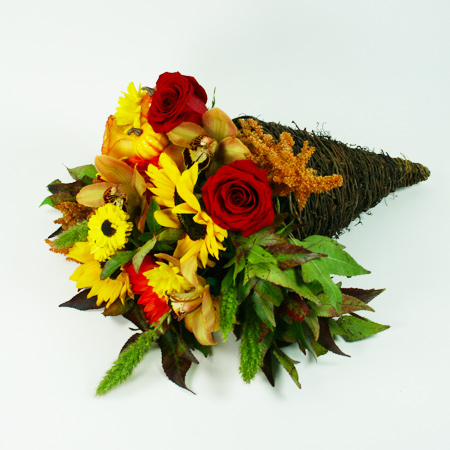 Cornucopia Flower Arrangement