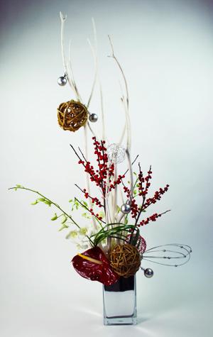 OH! Christmas Tree Flower Arrangement