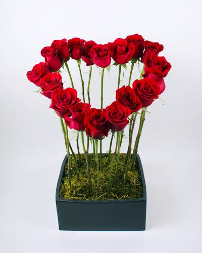 Tapered Heart Flower Arrangement