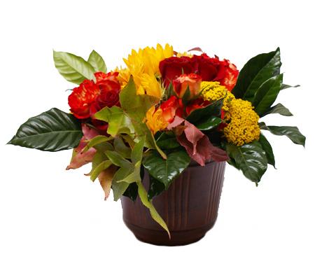Turning Leaves Flower Arrangement