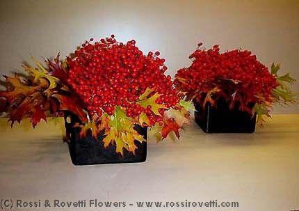 Berry Beautiful Leaf Box Duo - Flower Arrangement