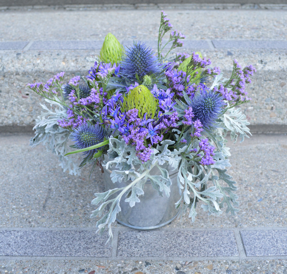 Prickly Purples Flower Arrangment