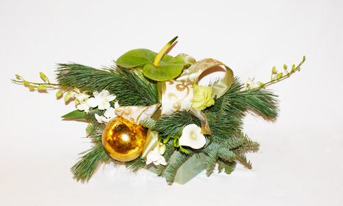 Modern Christmas Flower Arrangement