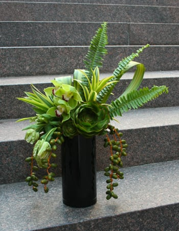 Vibrant Greens Flower Arrangement