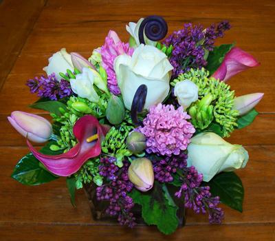 Lilac Twist Flower Arrangement