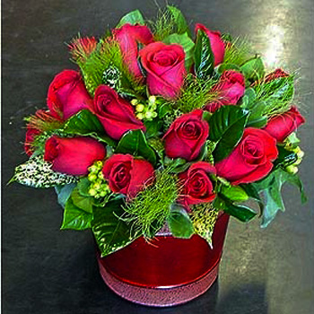 Hill of Roses Flower Arrangement