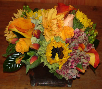 Fall Harvest Flower Arrangement