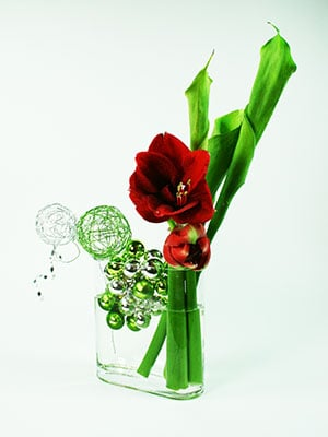Amaryllis and Callas Flower Arrangement