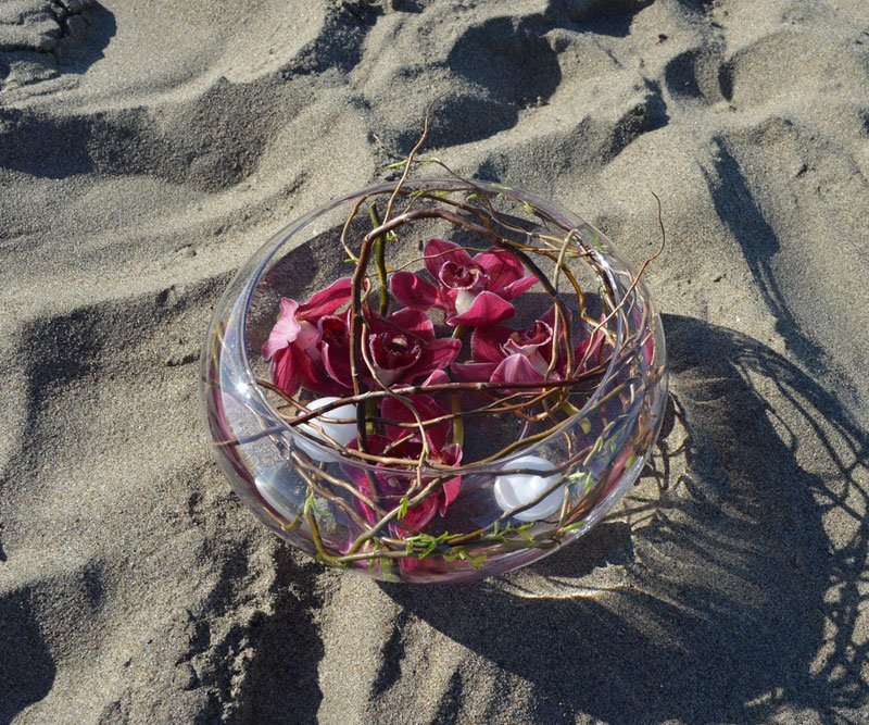 Midnight Beach Flower Arrangement