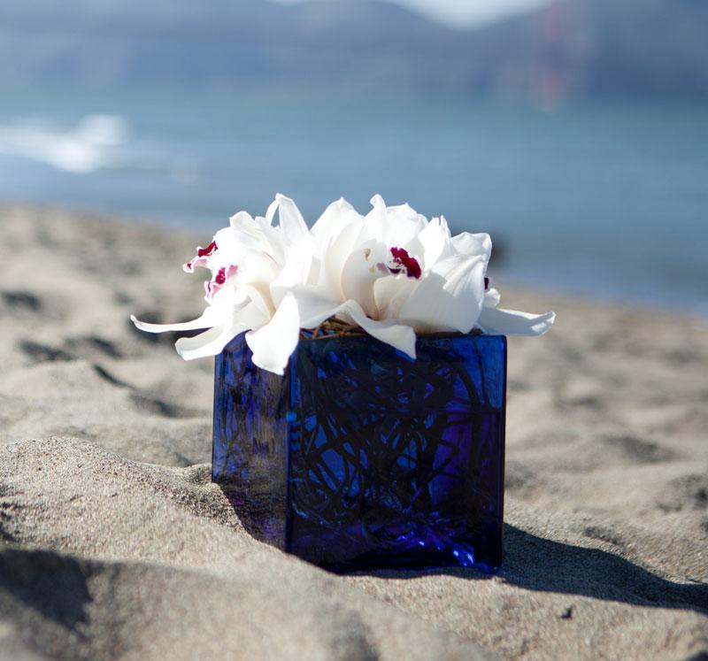 Sea Foam Flower Arrangement