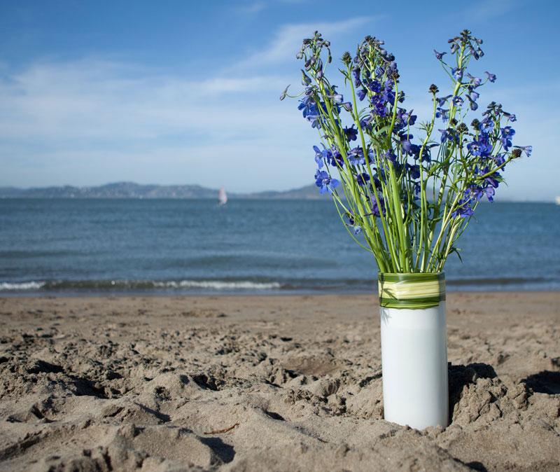 Tall Delphinium Flower Arrangement