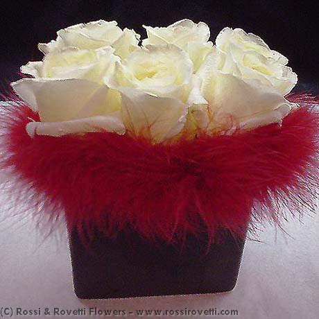 Sexy White Roses - Half Dozen Flowers