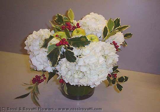 Hydrangea & Green Flower Arrangement