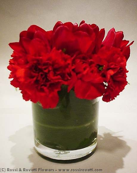 Lipstick Reds - Flower Arrangement