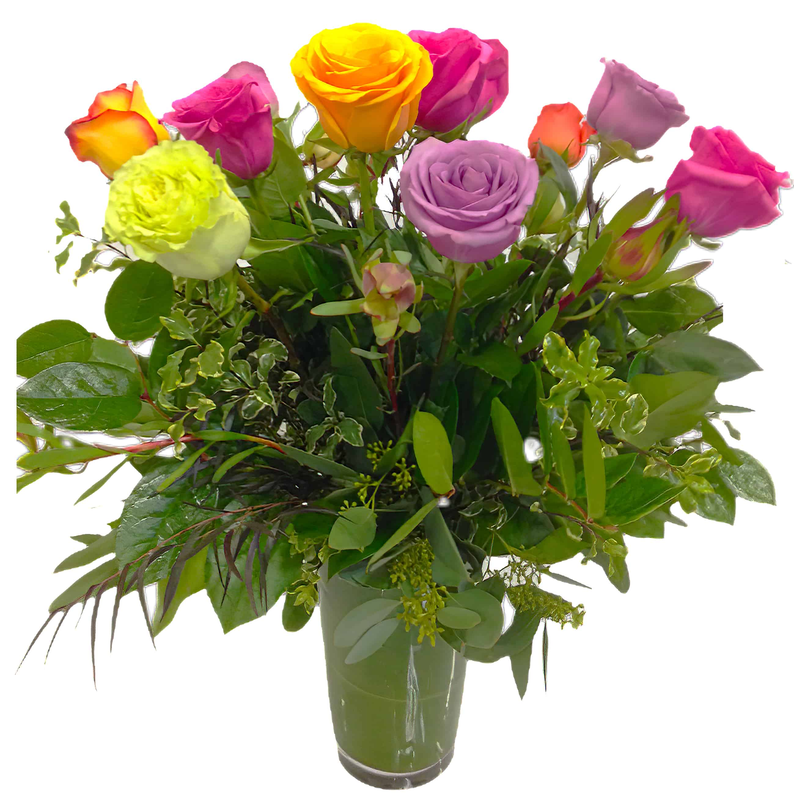 1 Dozen Mixed Colored Roses