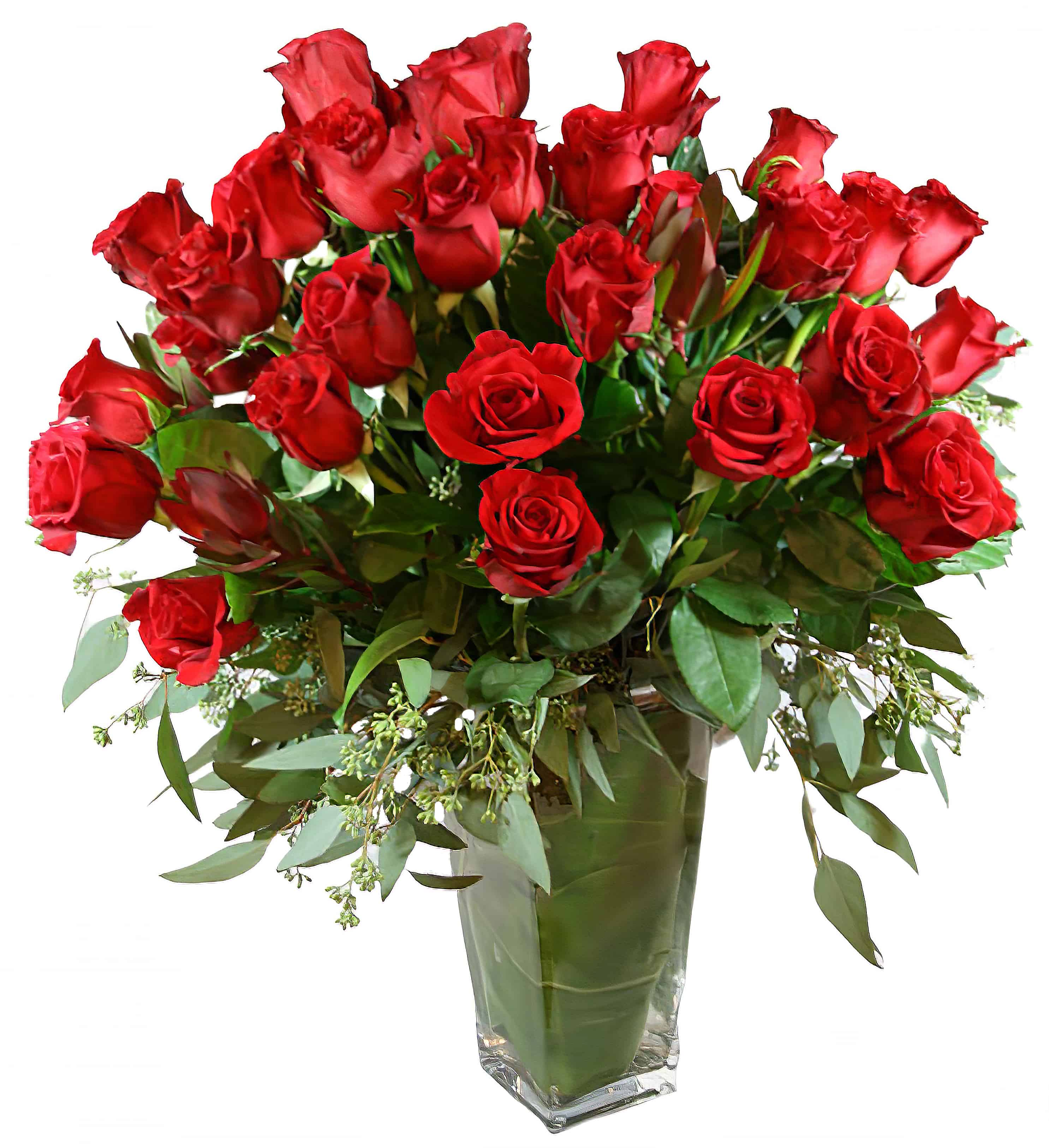 4 Dozen Flowers - Valentine Famoso Roses