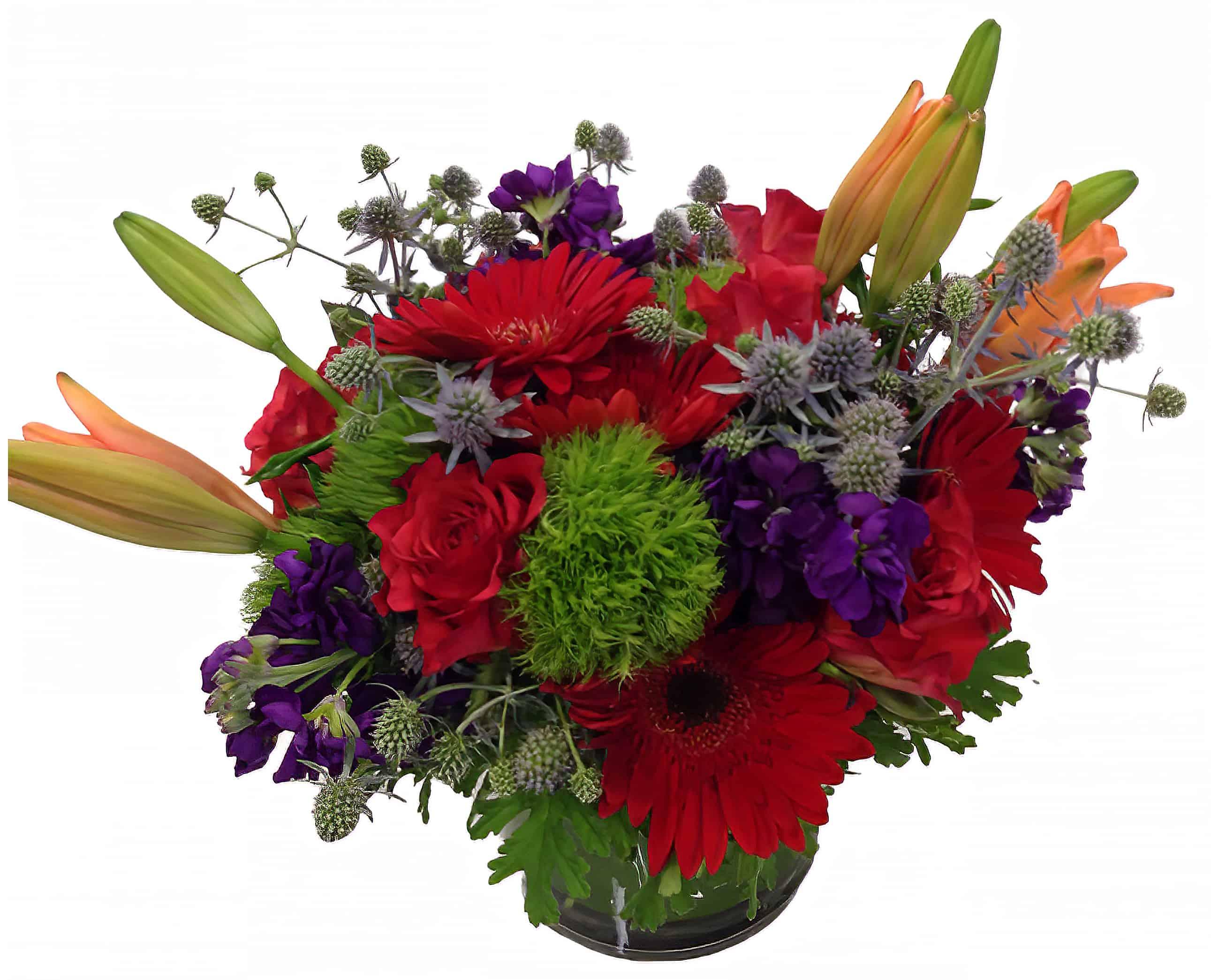 Red Hat Flower Arrangement