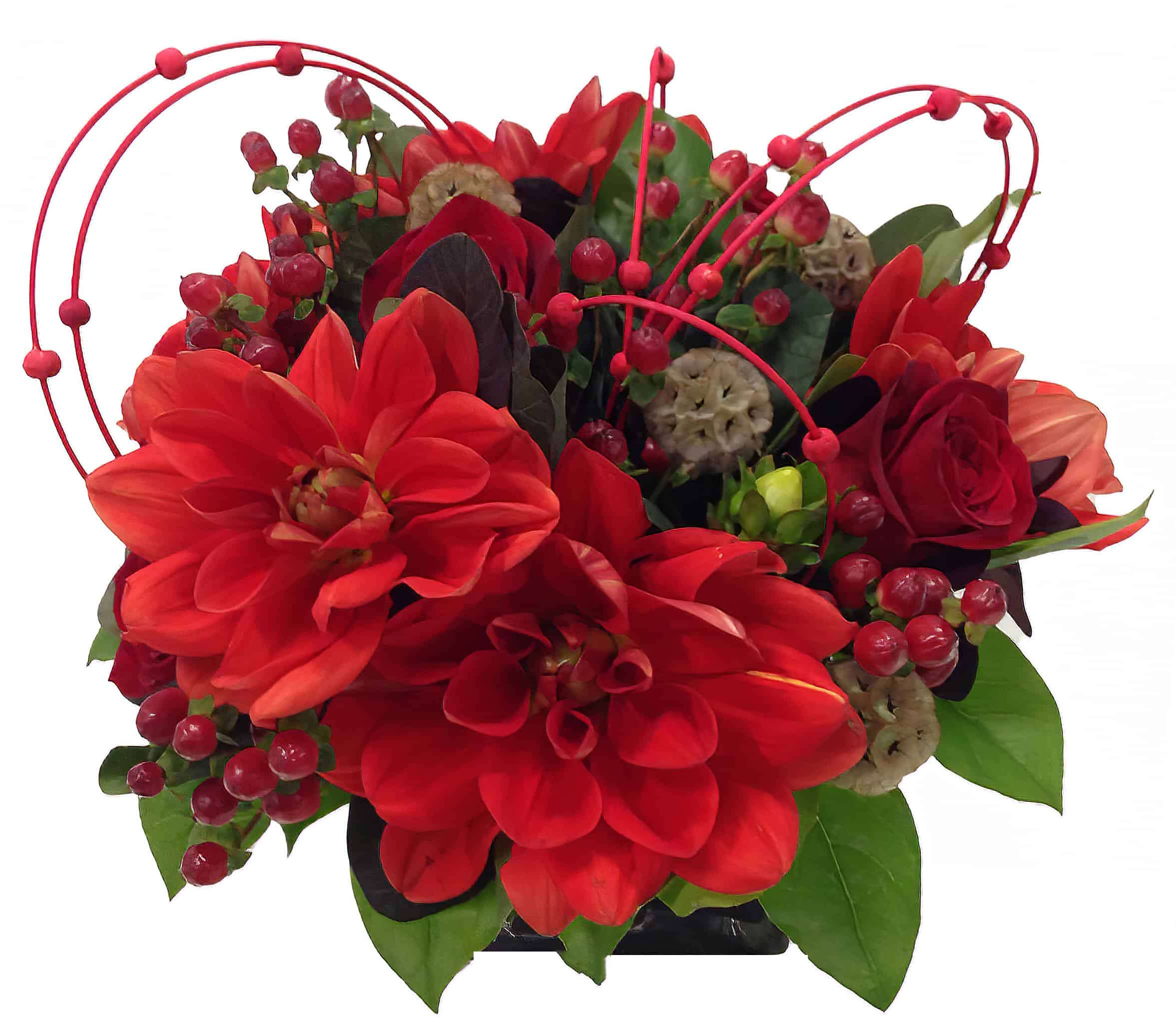 Beaded Dahlia Flower Arrangement