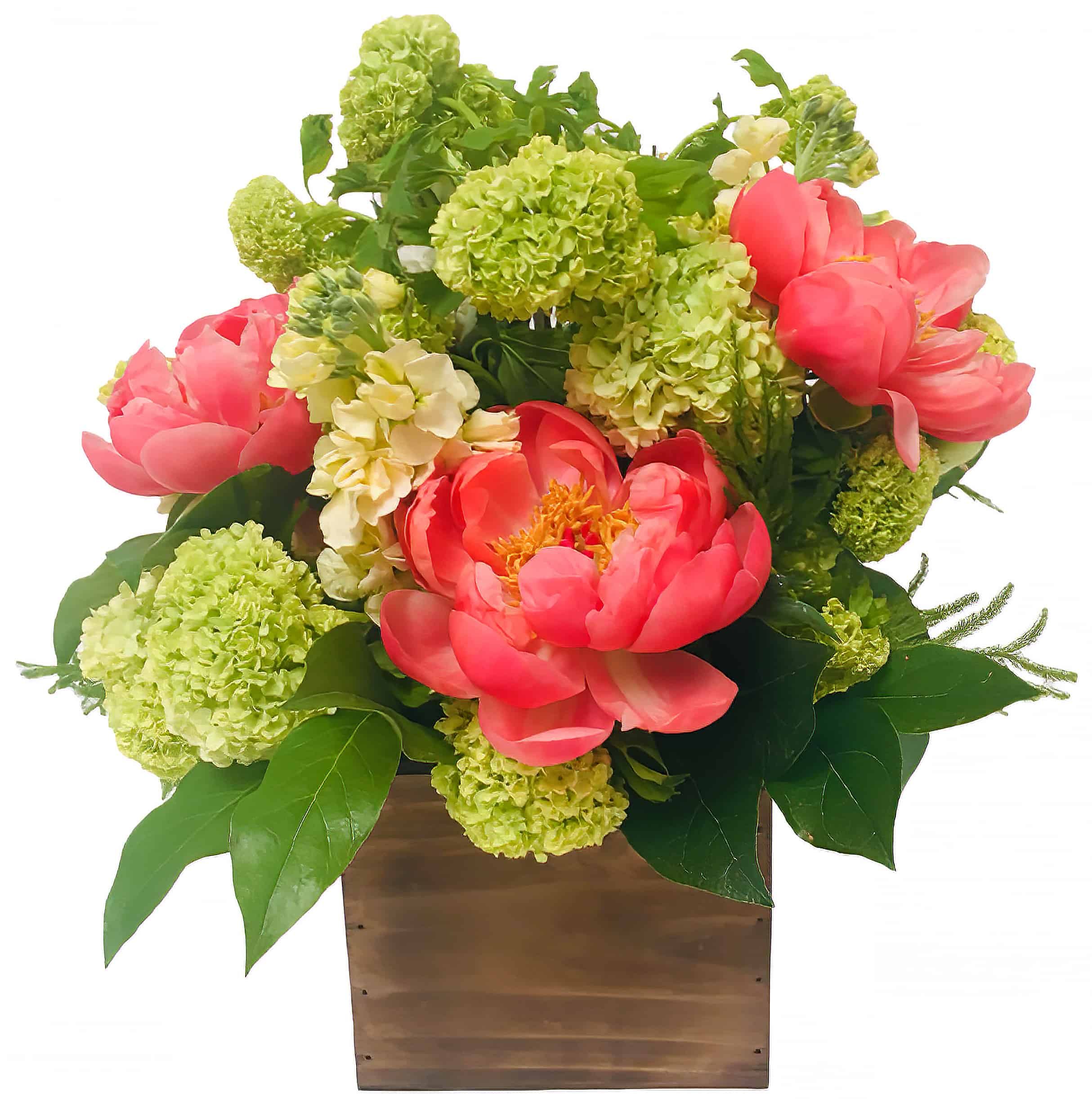 Boxed Peonies Flower Arrangement