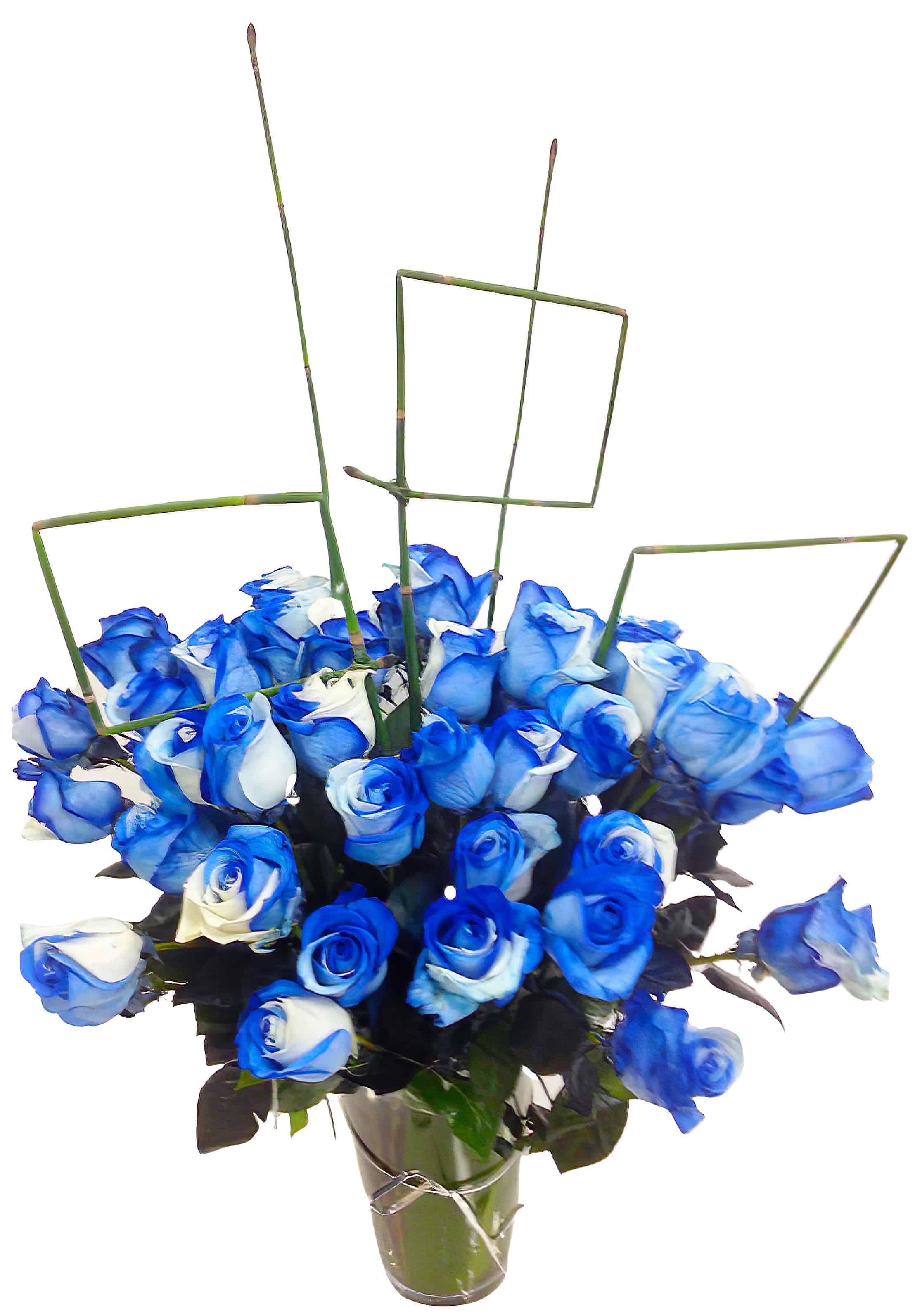 Blue Rose Flower Arrangement