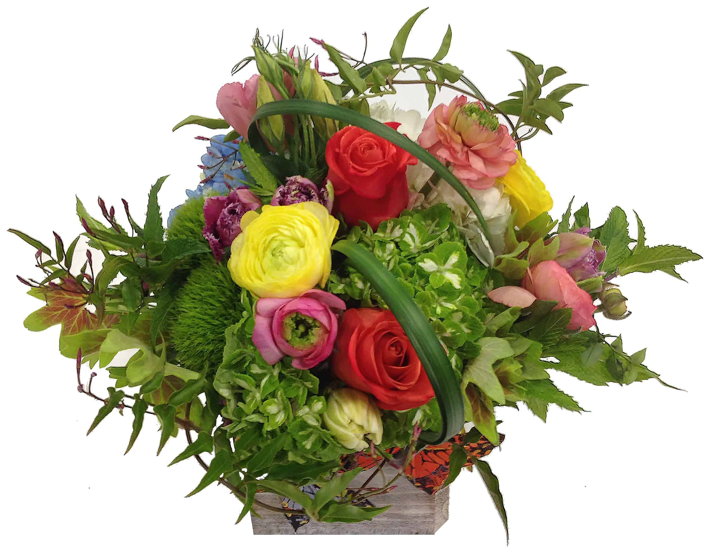 Butterfly Box Flower Arrangement
