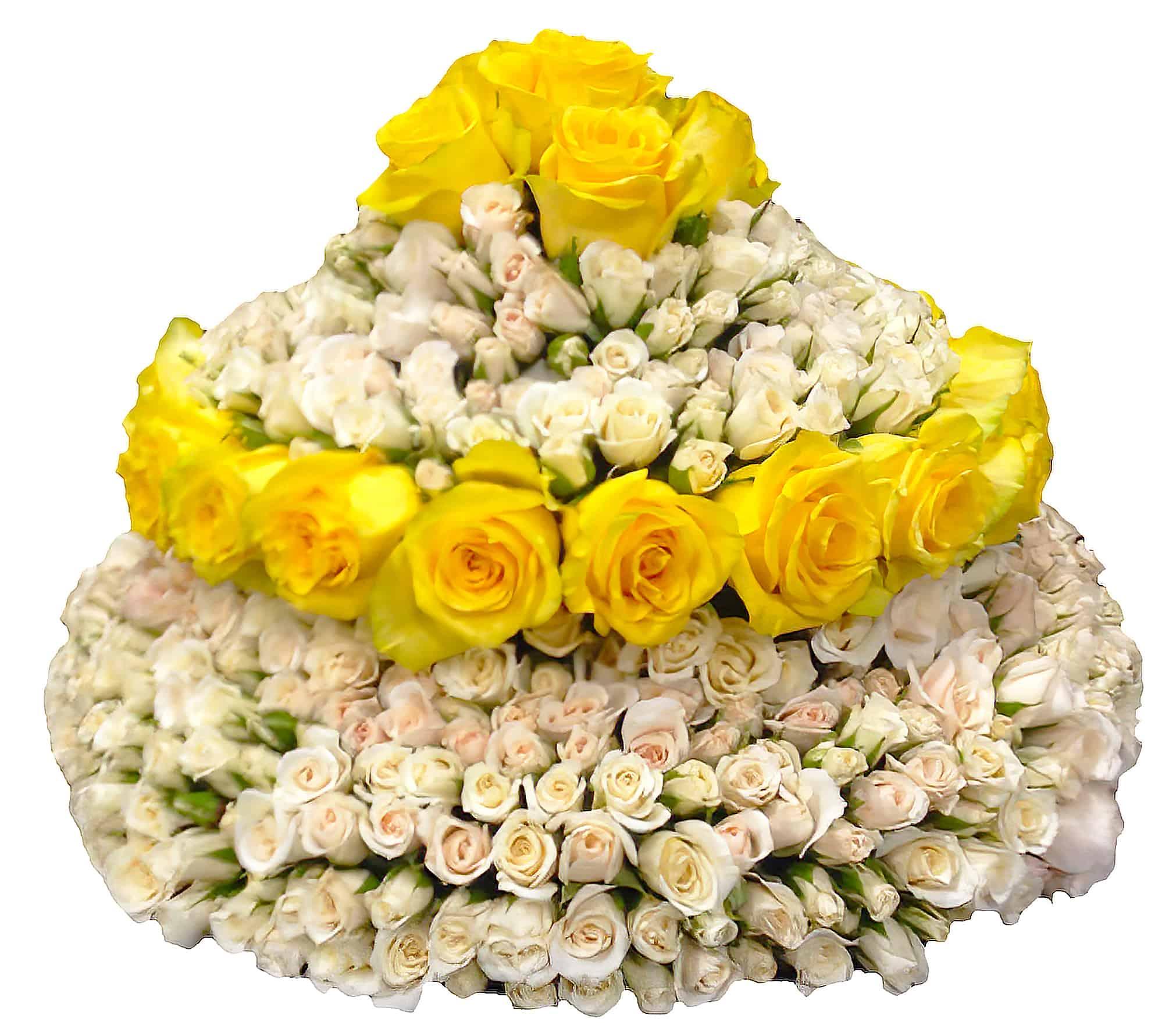 Large Cake of Roses Flower Arrangement