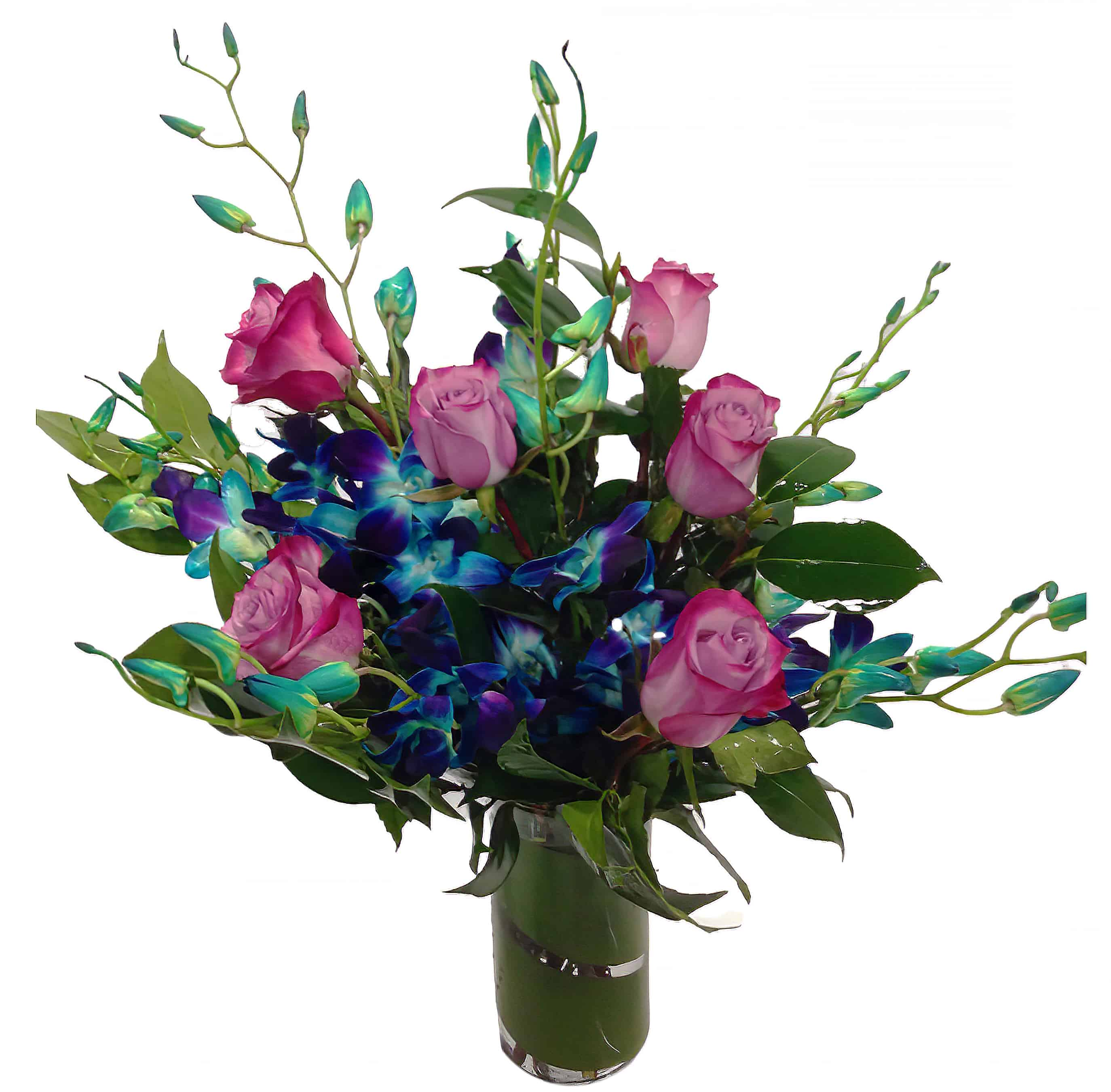 Sky Blue Deluxe Flower Arrangement