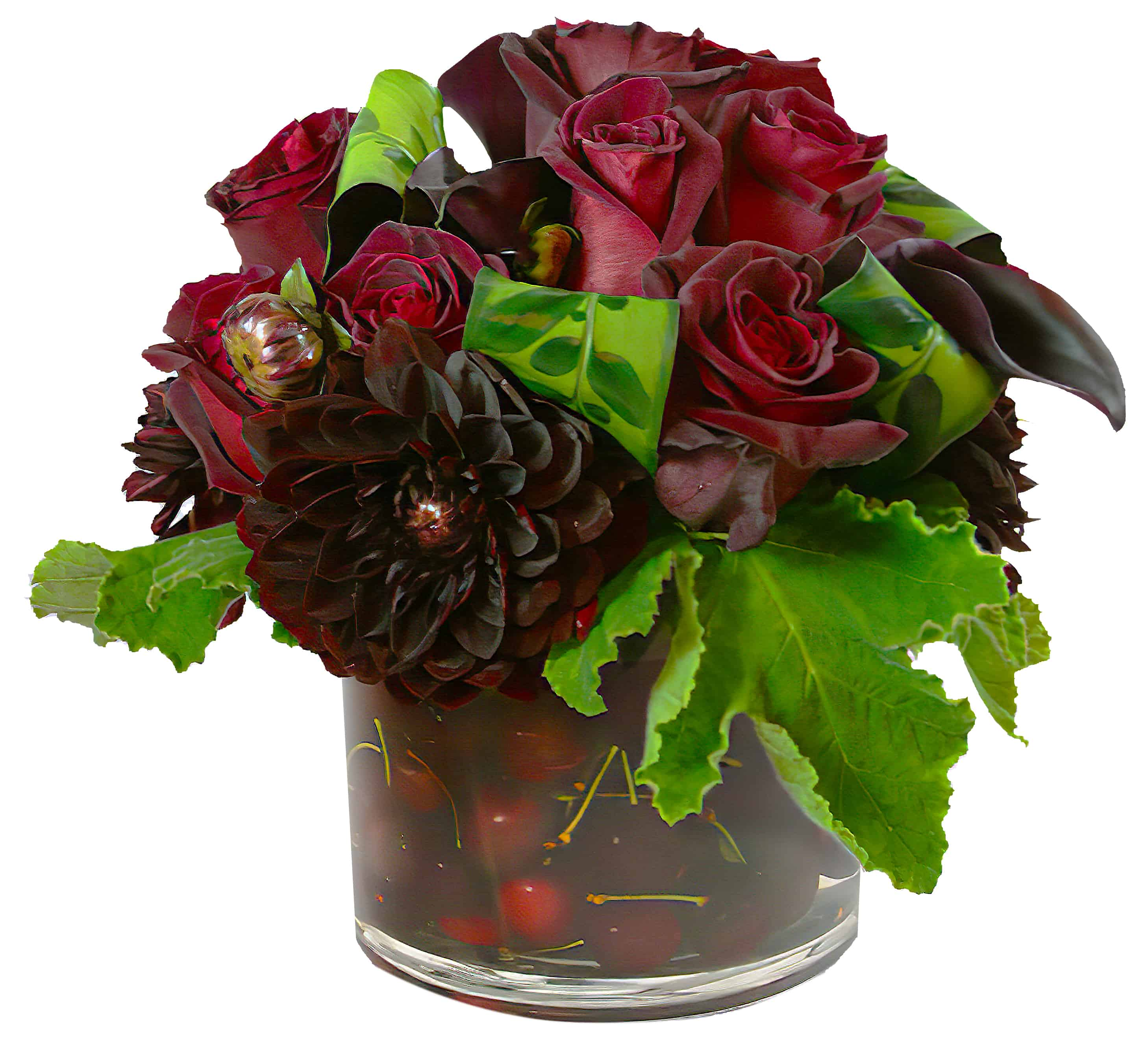 Conditor with Cherries - Flower Arrangement