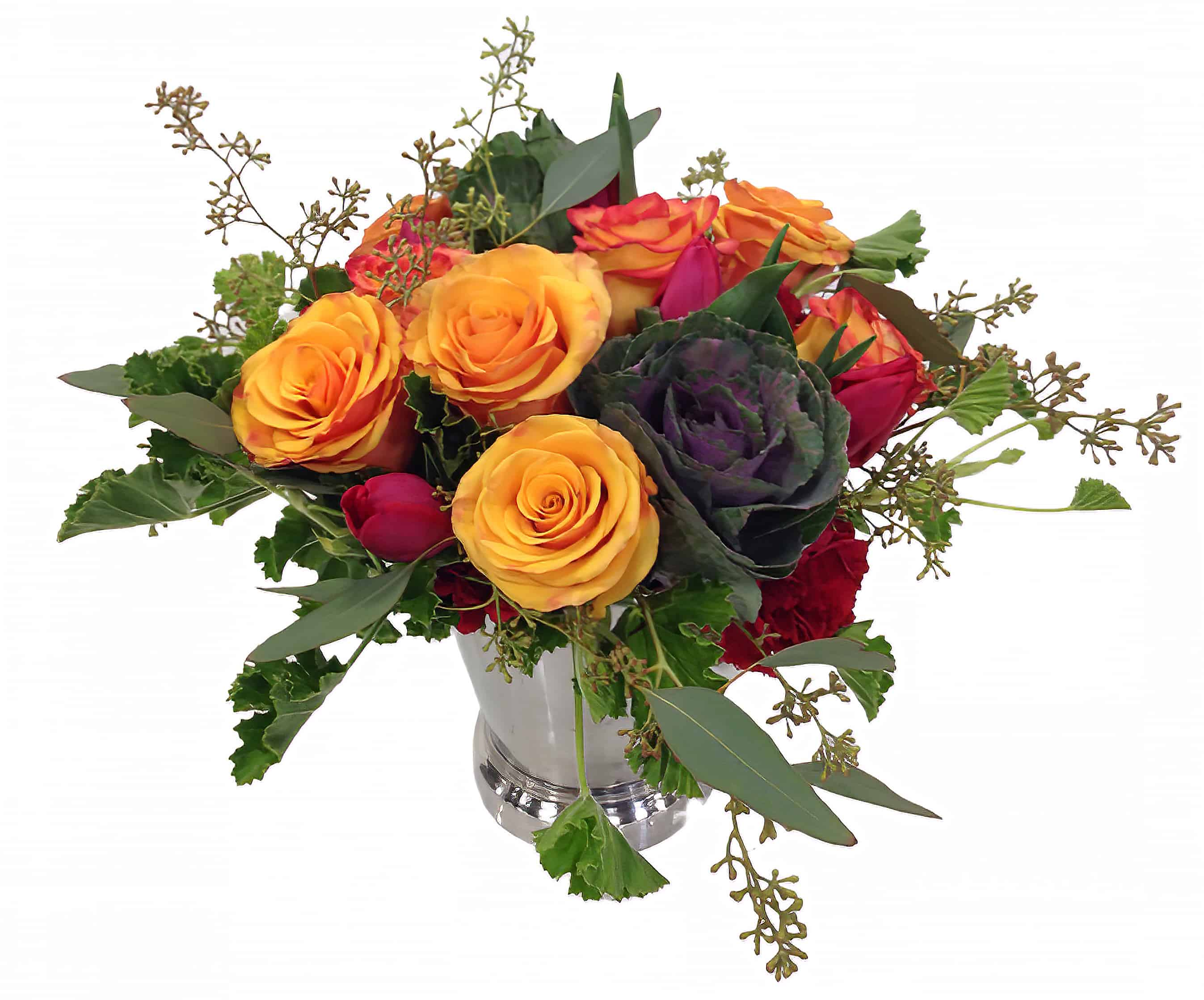 Colorful Chrome Flower Arrangement