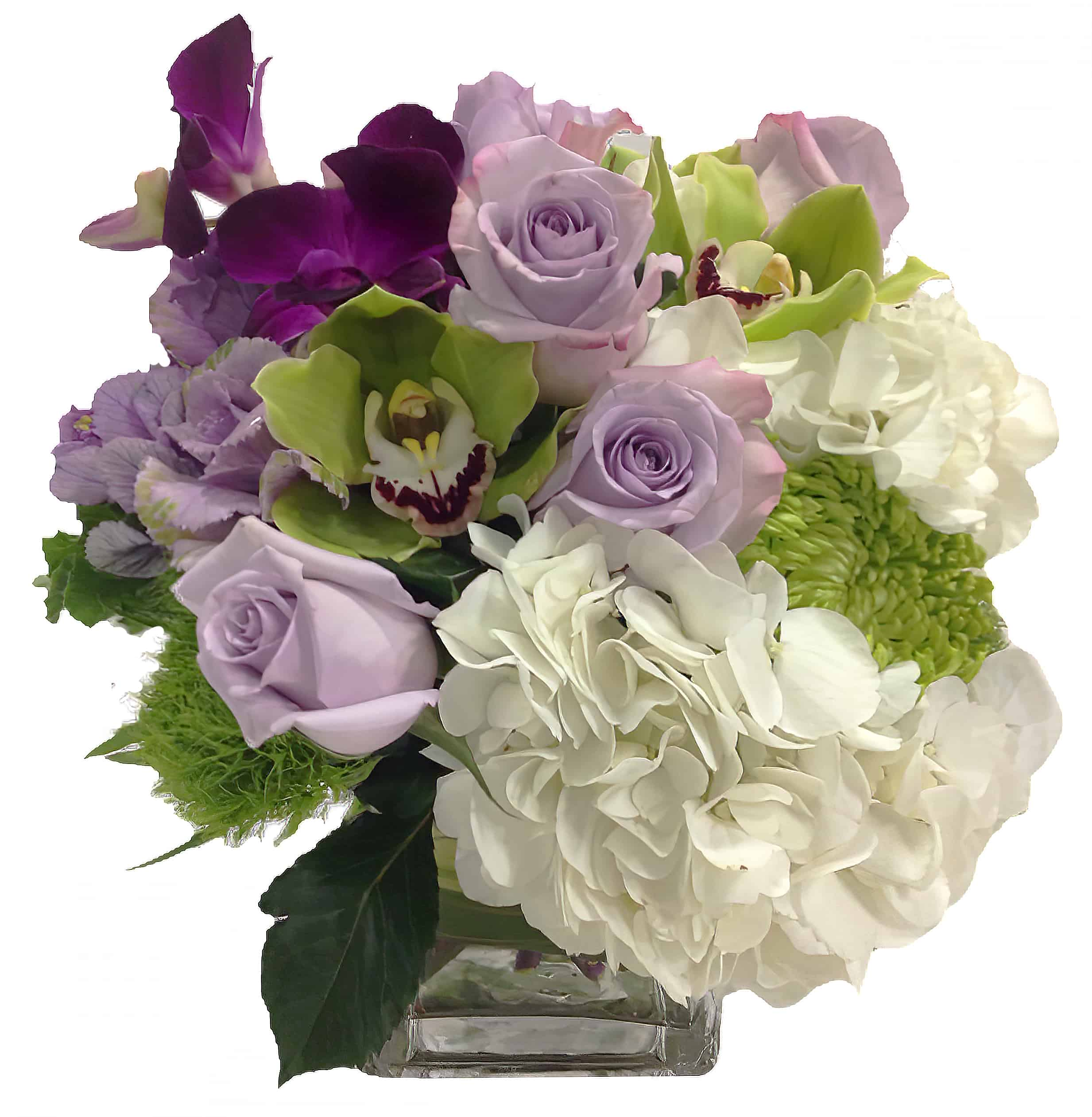 Amethyst Flower Arrangement