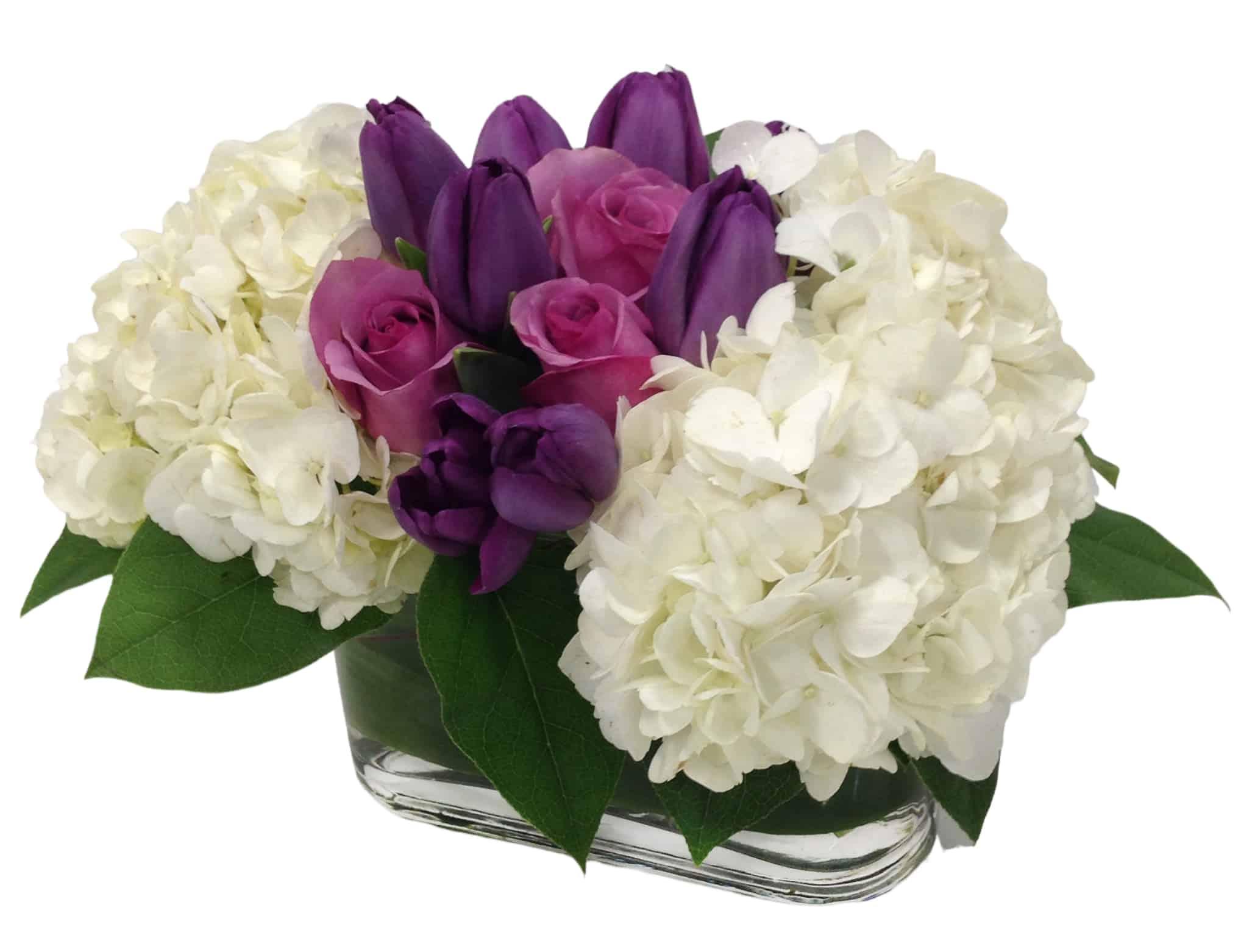 Lavender Stripe Flower Arrangement