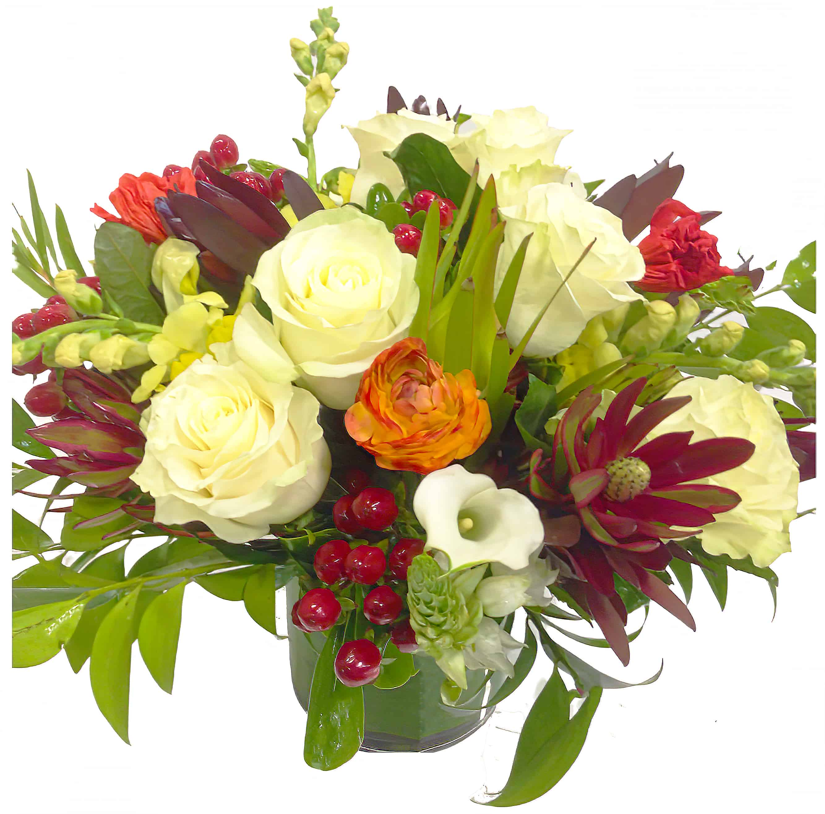 Berry Red Floral Arrangement