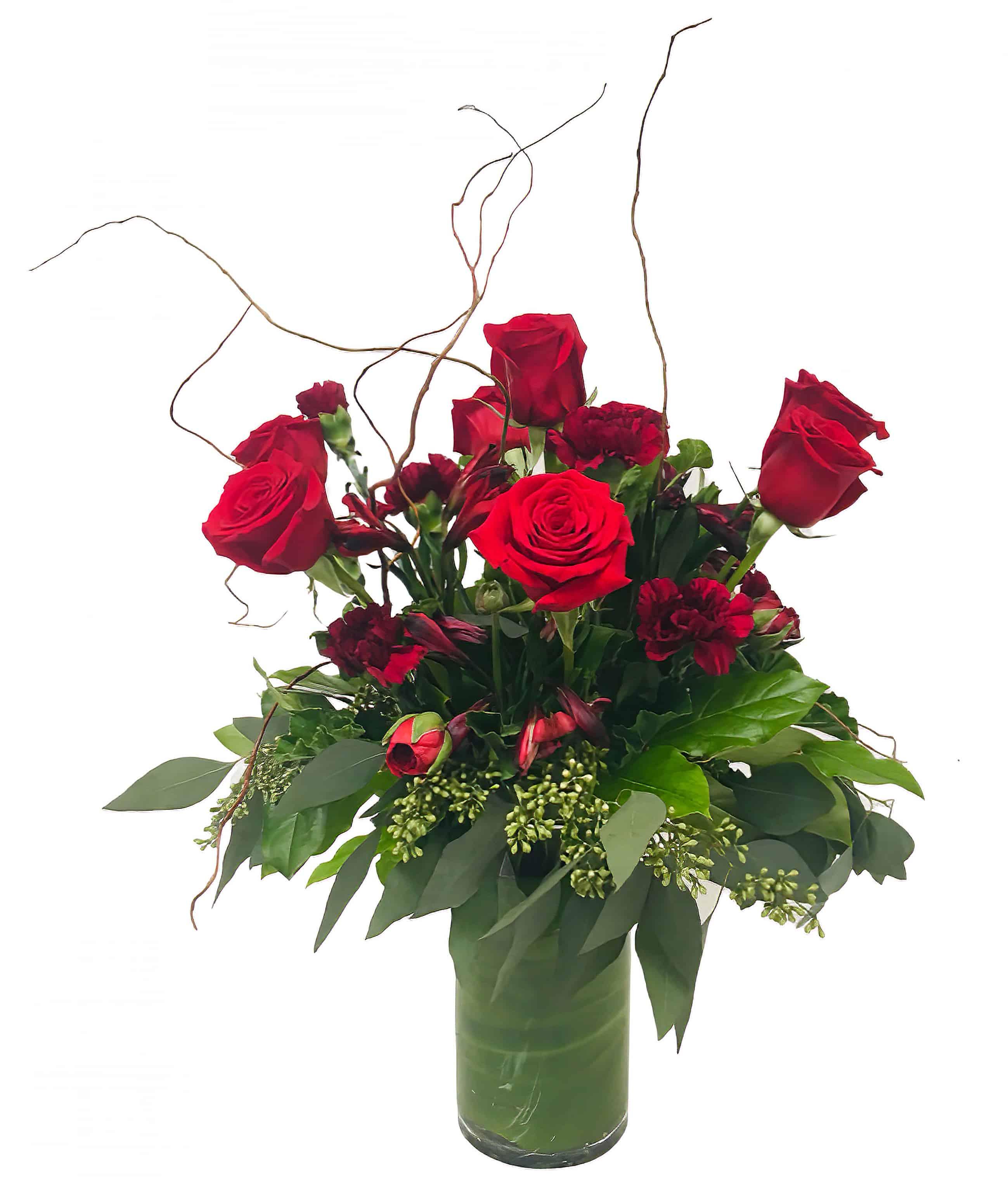Scarlet Romance Flower Arrangement