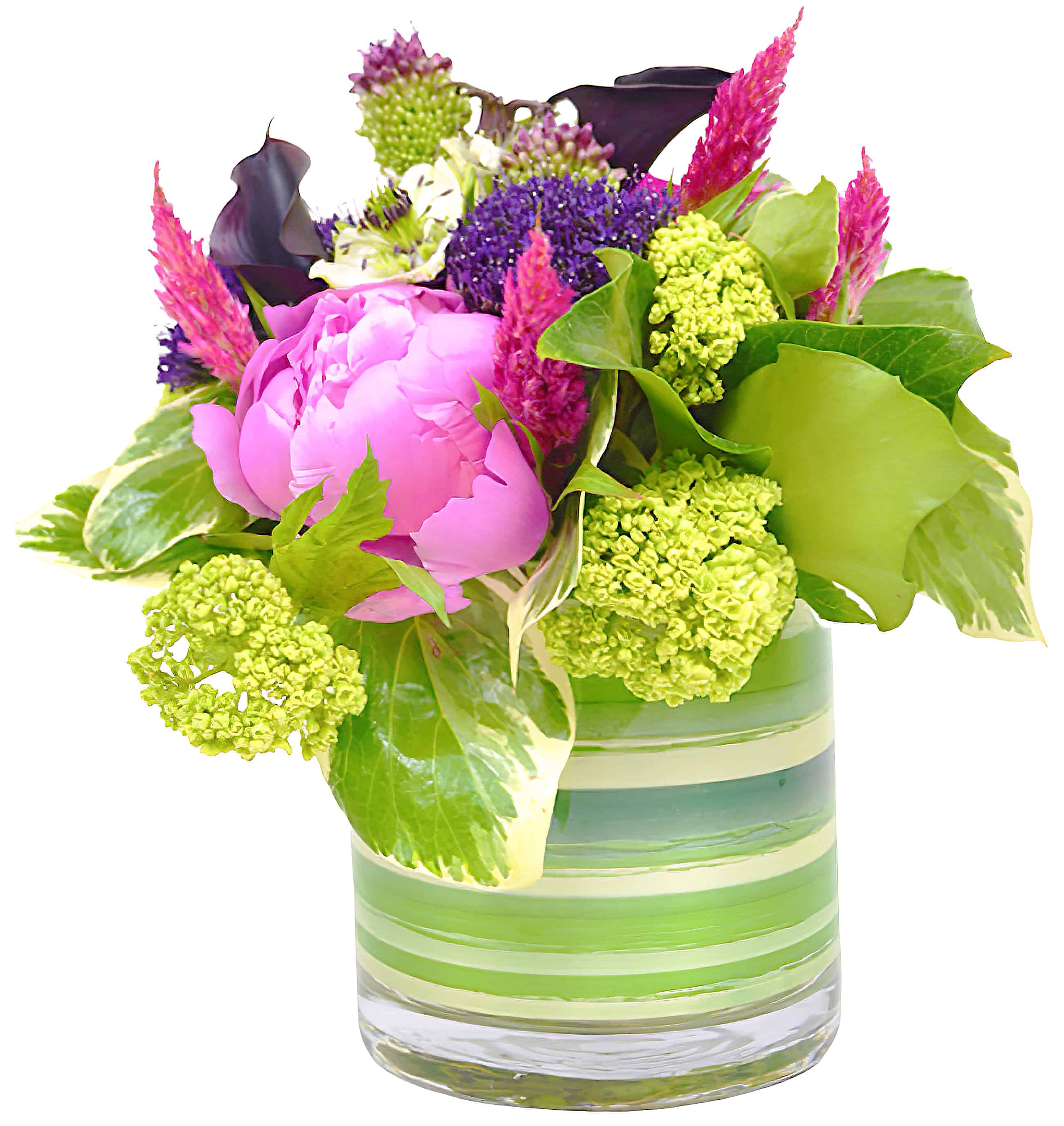 Striped Peony Flower Arrangement