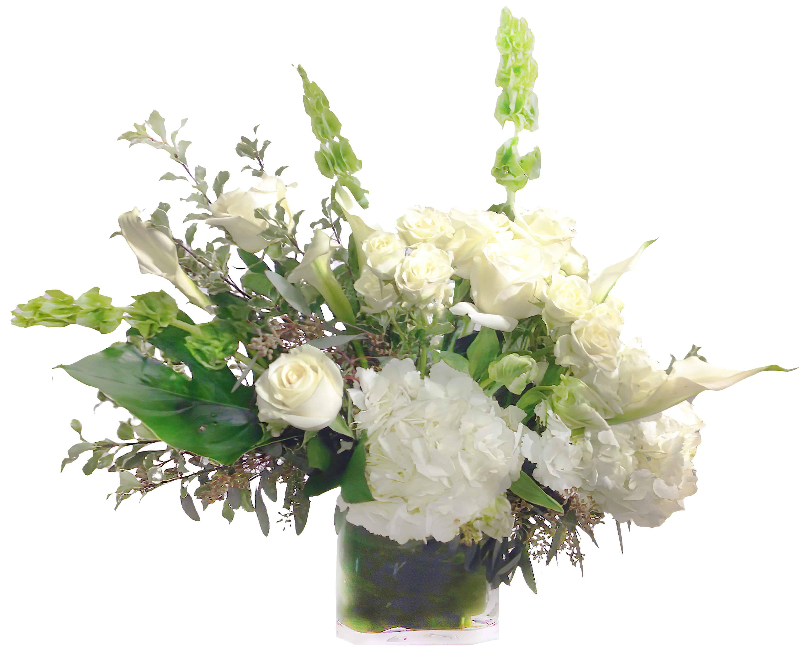 Pristine Whites Floral Arrangement
